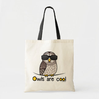 Owls are cool! tote bags