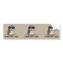 Owls are cool bumper sticker