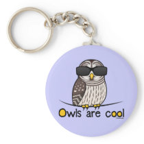 Owls are cool! keychain
