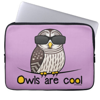 Owls are cool laptop sleeves