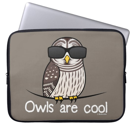 Owls are cool laptop sleeve
