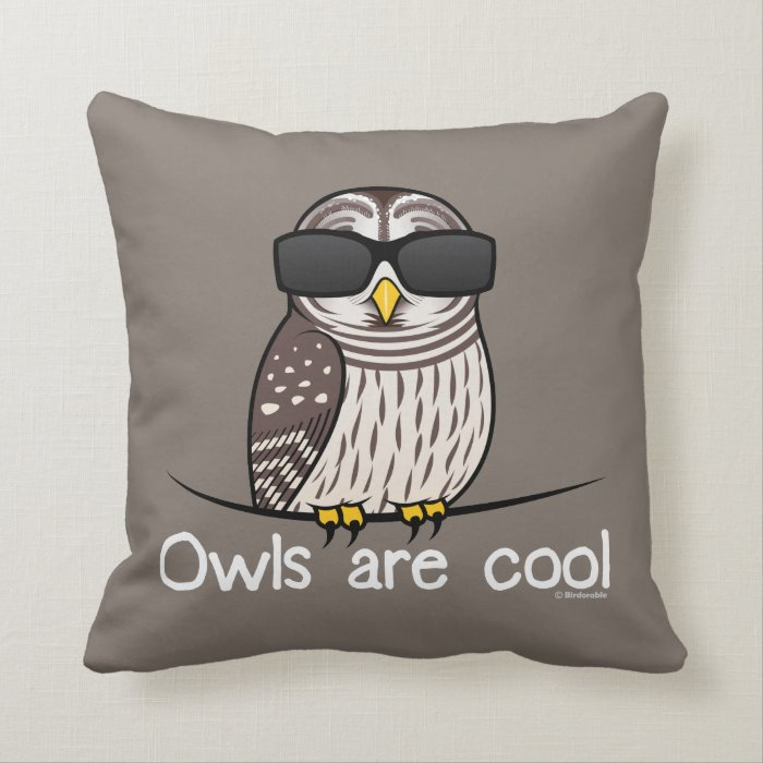 Owls are cool throw pillow zazzle for Cool couch pillows