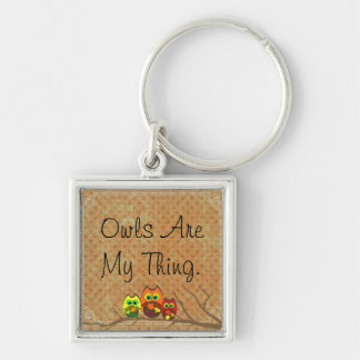 Owls Are My Thing Autumn Fob - Keychain