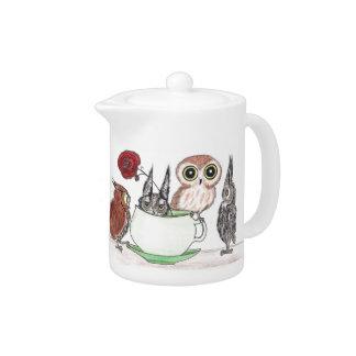 Owls at Teatime -Teapot Teapot