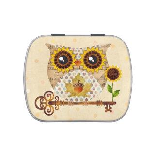Owl's Autumn Song Jewelry Box Trinket Box Pill Box Candy Tins