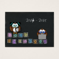 Owl's Back To School Business Card at Zazzle