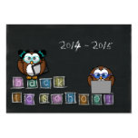 owl's back to school business card template