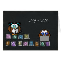 owl's back to school card