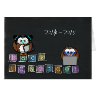 owl's back to school greeting card