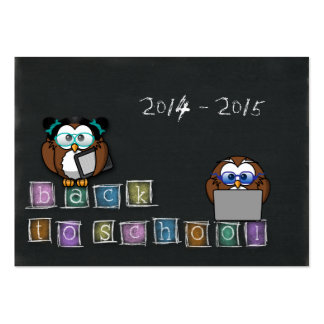 owl's back to school large business card
