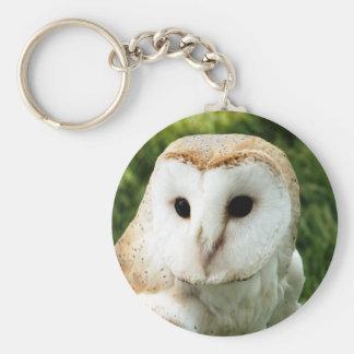OWLS BASIC ROUND BUTTON KEYCHAIN