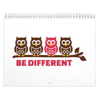 Owls be different calendar