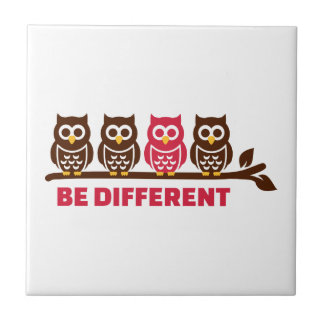 Owls be different tile
