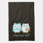 Owls Bride and Groom - Happily Ever After Hand Towels