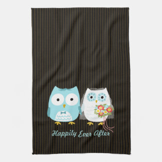 Owls Bride and Groom - Happily Ever After Towels
