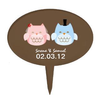 Owls Bride and Groom Wedding Cake Topper