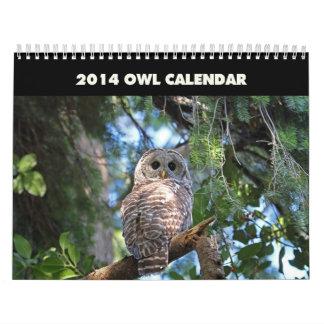 Owls Calendar 2014