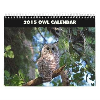 Owls Calendar 2015