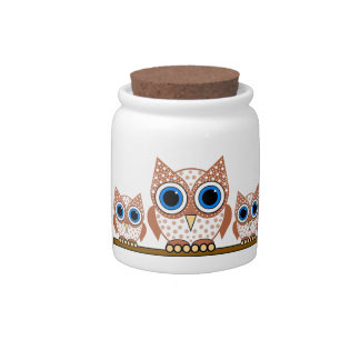 owls candy dishes