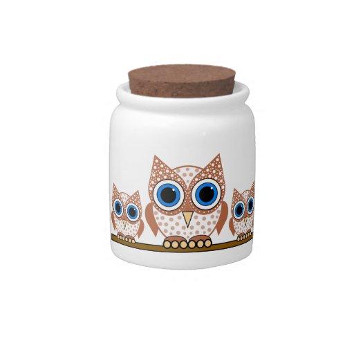 owls candy jar