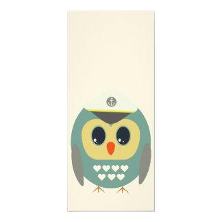 Owls captain 4x9.25 paper invitation card