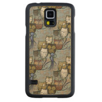 Owls Carved Maple Galaxy S5 Slim Case