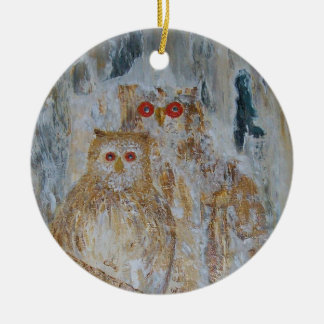 Owls Ceramic Ornament