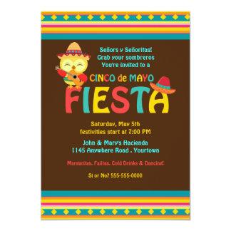 Owls Cinco de Mayo Fiesta Card