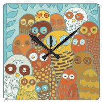 Owls Clock