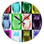 Owls Color Grid Clock