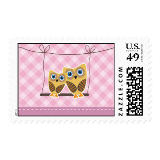 Owls couple postage