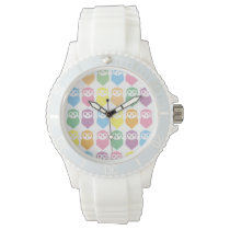 owls Custom Sporty White Silicon Watch