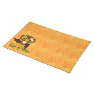 Owls design Gifts Cloth Placemat