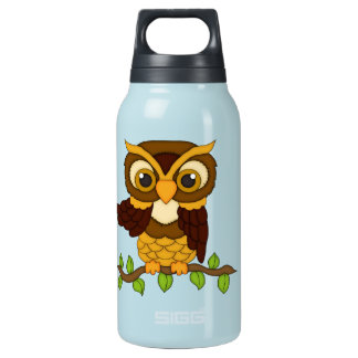 Owls design insulated water bottle