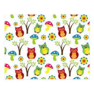 Owls Design Postcard