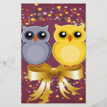 Owls, Dots, Bow