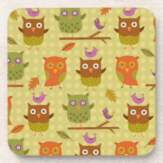 Owls Drink Coaster