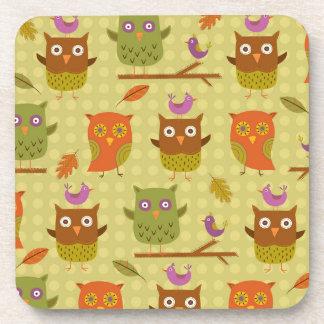 Owls Drink Coaster