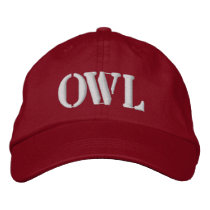 OWLS EMBROIDERED BASEBALL HAT