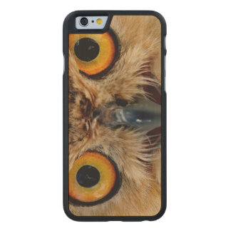Owls Eyes Carved Maple iPhone 6 Case