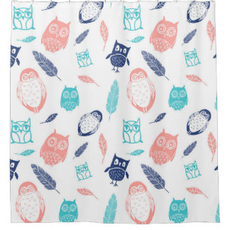 Blue Coral Shower Curtains | Zazzle