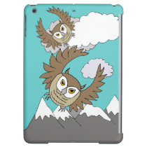 owls flying above mountains iPad Air Savvy case Cover For iPad Air