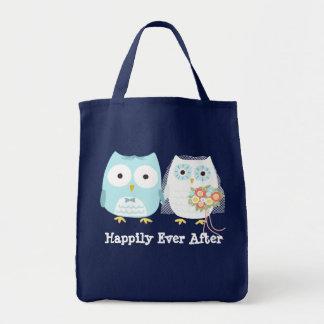 Owls Getting Married - Fun Bride and Groom Tote Bag