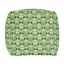 Owls - Green (1).jpg Pouf