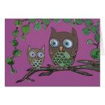 Owls - Greeting Card