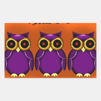 Owls Halloween Rectangular Sticker
