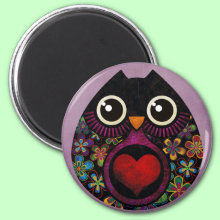 Owl's hatch Magnet - Give the gift of love! This lovely owl!