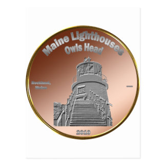 Owls Head Lighthouse Coin/Token Postcard