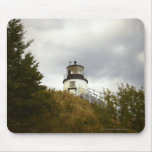 Owl's Head Lighthouse on a Cloudy Day Mouse Pad