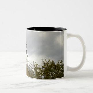 Owl's Head Lighthouse on a Cloudy Day Coffee Mugs